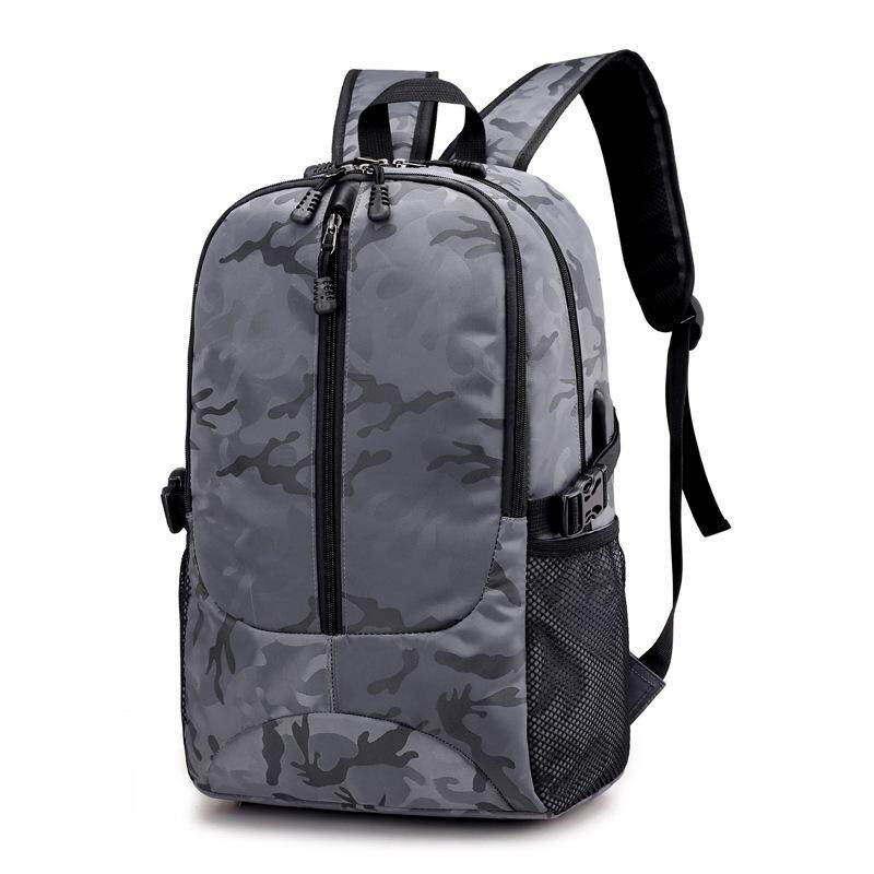 New Camouflage Computer Backpack Capacity Usb Interface Charging Backpack By Xiao Liting.