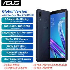 Phiên Bản Toàn Cầu Asus Zenfone Max M1 Zb555kl 4G Điện Thoại Thông Minh LTE 2GB+16GB/ 3GB + 32GB Android 8.0 Snapdragon 430 5.5Inch 4000 MAh 13MP Mở Khóa Vân Tay Điện Thoại Di Động Sim Kép