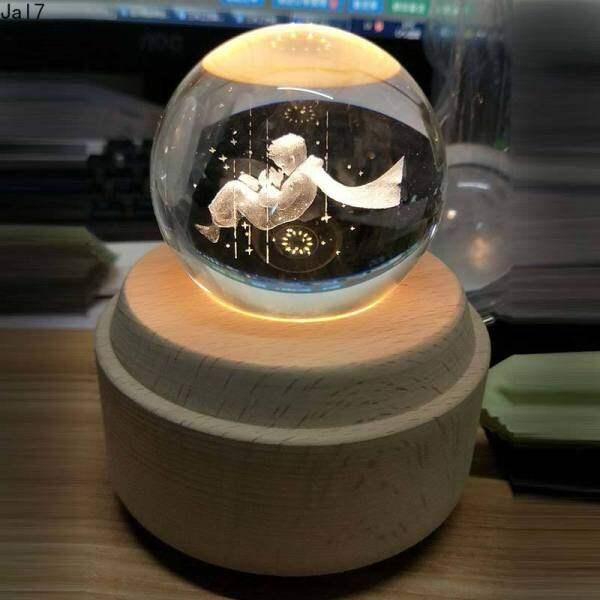 Bảng giá Đèn Ngủ Acrylic 3D Với Hộp Âm Nhạc Tinh Thể Đèn Bóng Hộp Nhạc Phát Sáng Bằng Gỗ Quà Tặng Sinh Nhật Xoay Sáng Tạo Hộp Nhạc Tay Quay