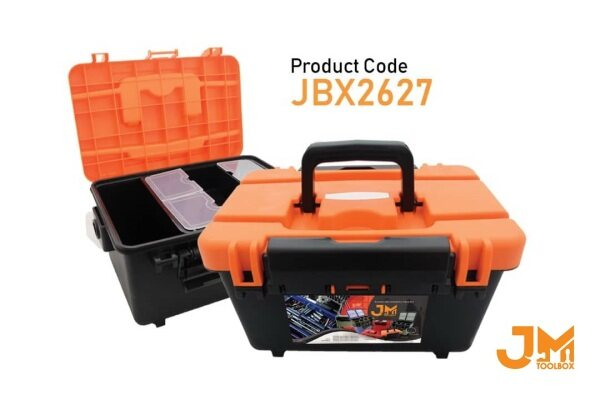 JM Tool Box JBX2627 - Multipurpose Plastic Tool Box PP