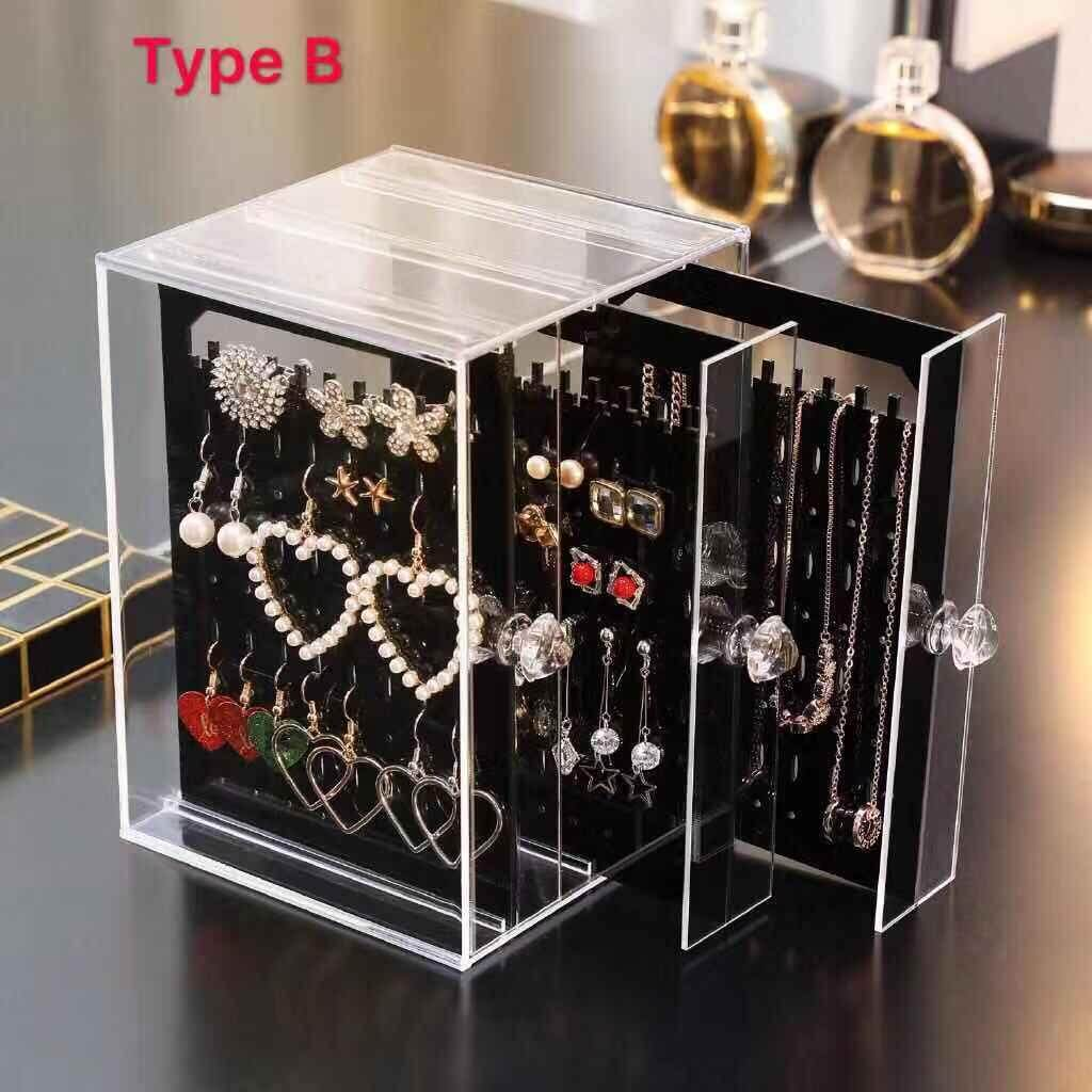 Household Supplies Health & Personal Care Romote Earring Holder Clear Acrylic Ear Stud Organizer Jewelry Display Stand Pierced Earring Showcase Rack