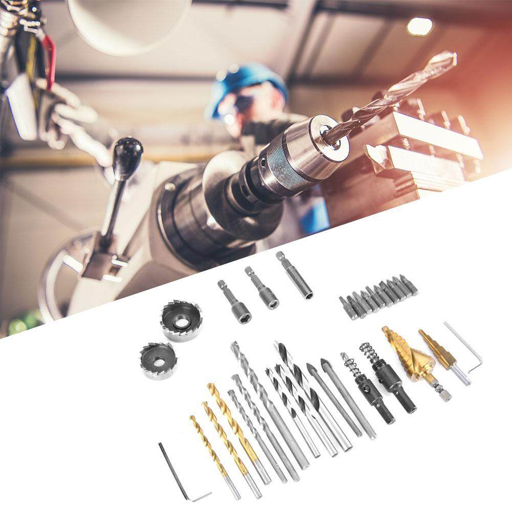 (Qianmei+Ready Stock)Multifunctional Woodworking Tool Set Drill Set Screw Bit + Carpentry Drill Bit Kit