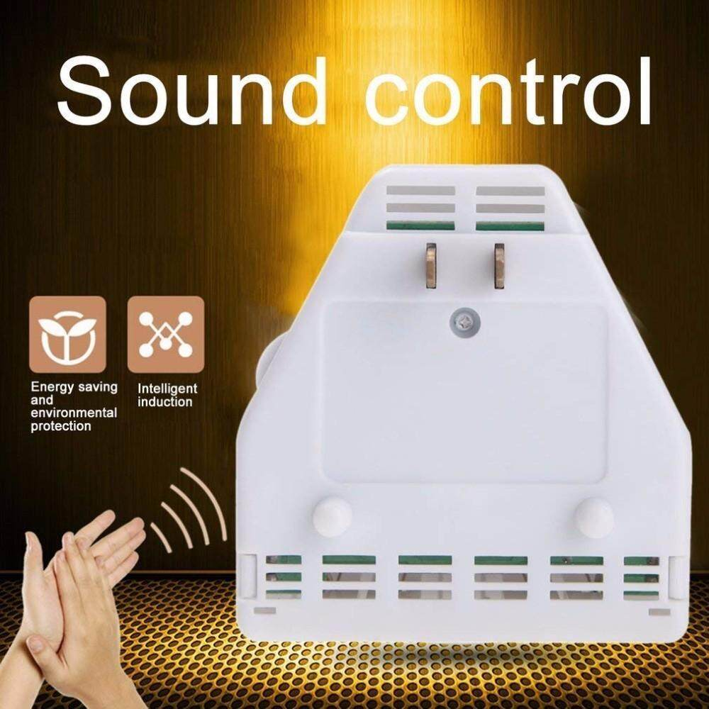 Yifang Sound Activated On/off Switch by Hand Clap 110/220V Electronic Control Gadget White
