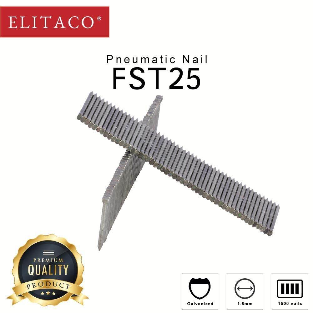 ELITACO® FST18 FST25 FST30 FST35 FST40 FST45 FST50 for Concrete, Floor 1500pcs  Gauge Pneumatic Tacker Brad Nail Working DIY Furniture Finishing