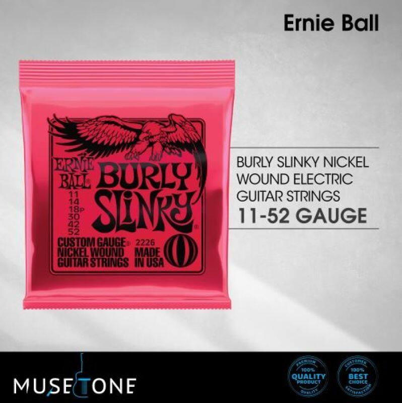 Ernie Ball 2226 Burly Slinky Nickel Wound Electric Guitar Strings 11-52 Malaysia