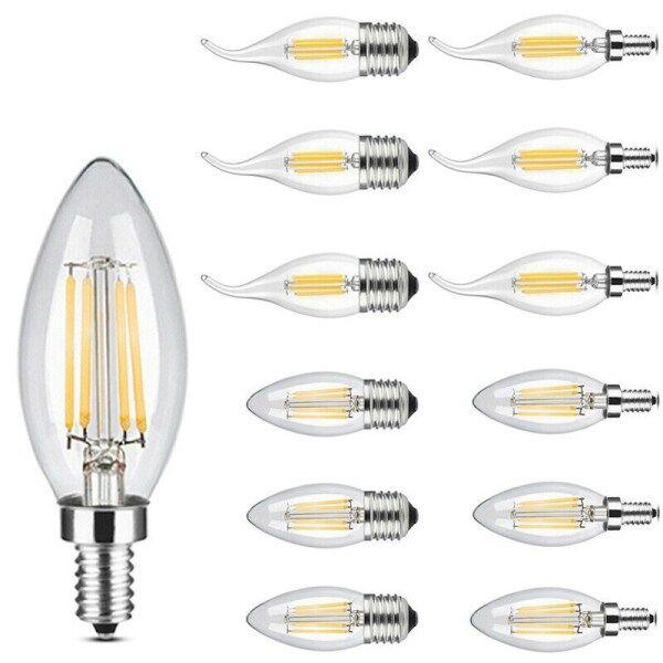Nến Đèn Dây Tóc LED E14/