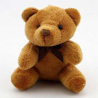 MeiYang ของเล่นเด็กแบบยัดไส้สัตว์หมี 8 ตุ๊กตาหมีน่ารักของเล่นตุ๊กตาพวงกุญแจห้อยกระเป๋ารถที่ใส่กุญแจสำหรับตุ๊กตาห้อยของ-