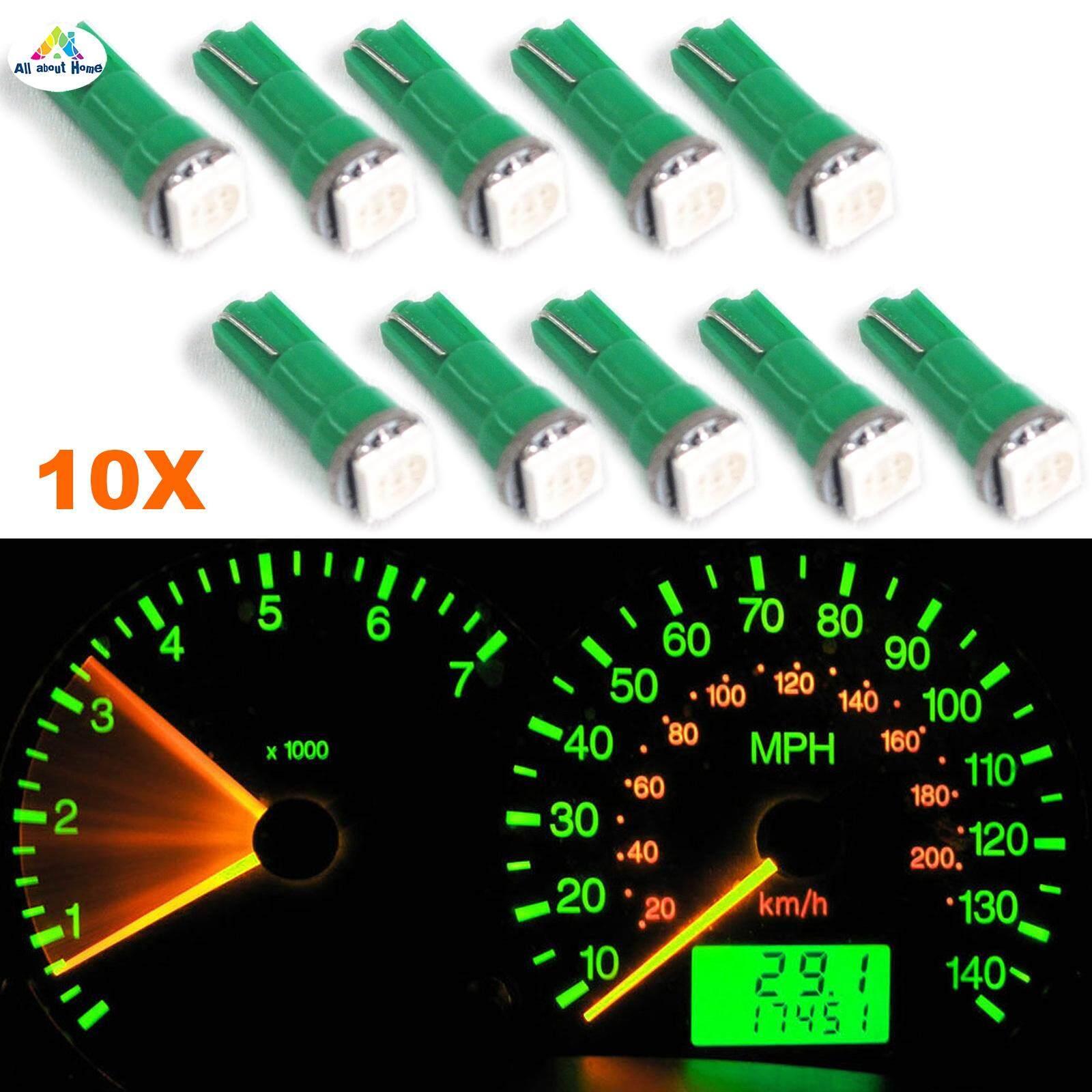 ABH 10 chiếc T5 17 37 73 74 SMD 5050 Nêm Nhạc Cụ Bảng Điều Khiển LED Xe Hơi Bóng Đèn Cho Xe Ford