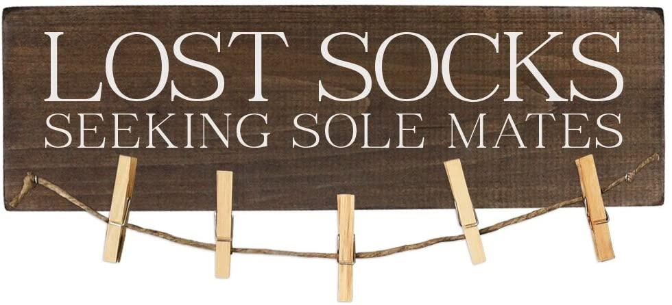 Lost Socks Wood Sign Seeking Sole Mates Laundry Room Decor Wooden Lazada Singapore