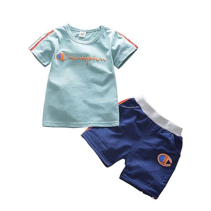 Infant Clothing Sets Clothes Set Short Sleeve Cotton Letters T-shirt Shorts