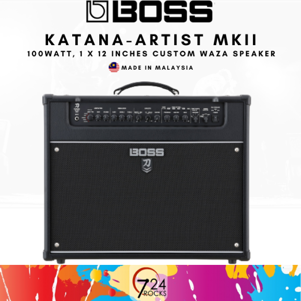 724 ROCKS Boss Katana Artist MkII 1x12 100-watt Combo Guitar Amp / Amplifier Malaysia