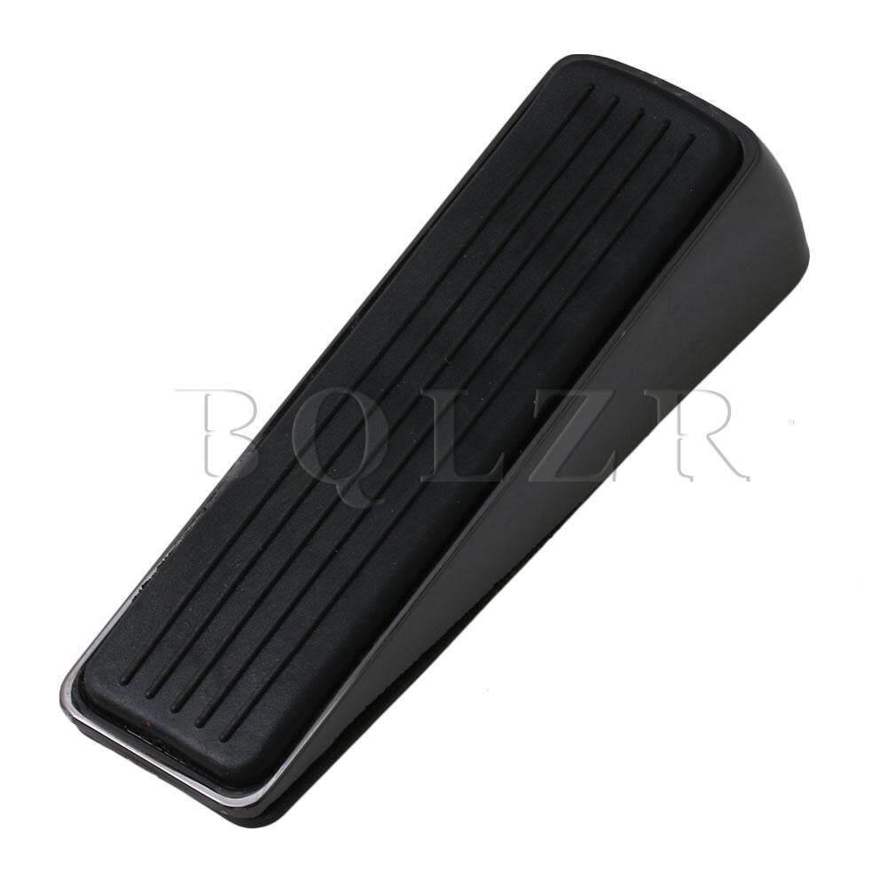 Household Security Rubber Zinc Alloy Door Stopper Wedge Mute Titanium Black