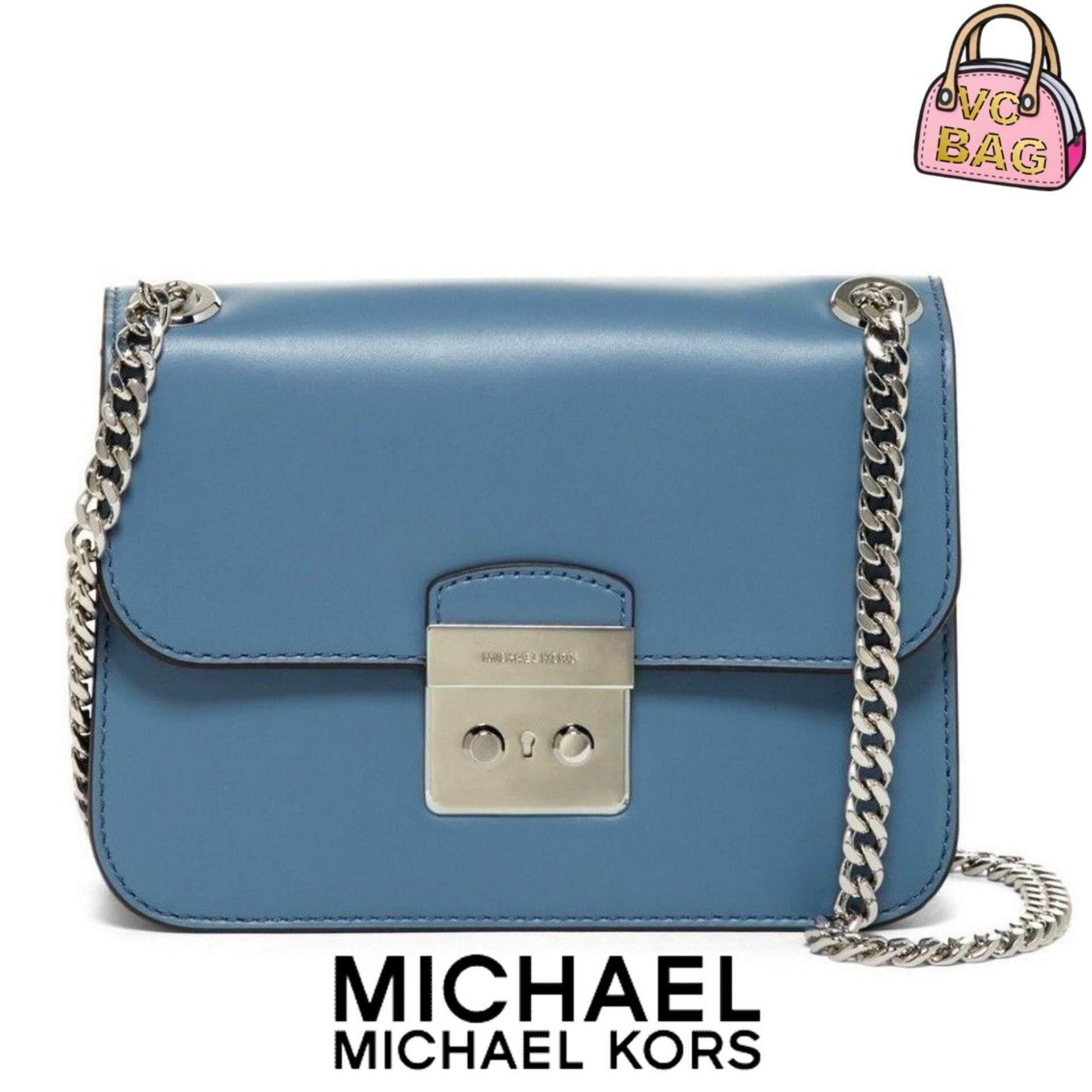 5bde3c5fb696 MICHAEL KORS Sloan Editor Small Chain Shoulder Bag [Denim]