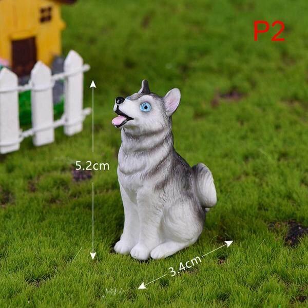 Jiaju Husky Chó Dễ Thương DIY Mini Vườn Thần Tiên Thu Nhỏ Trang Trí Nhà Búp Bê Cảnh Quan Vi Mô