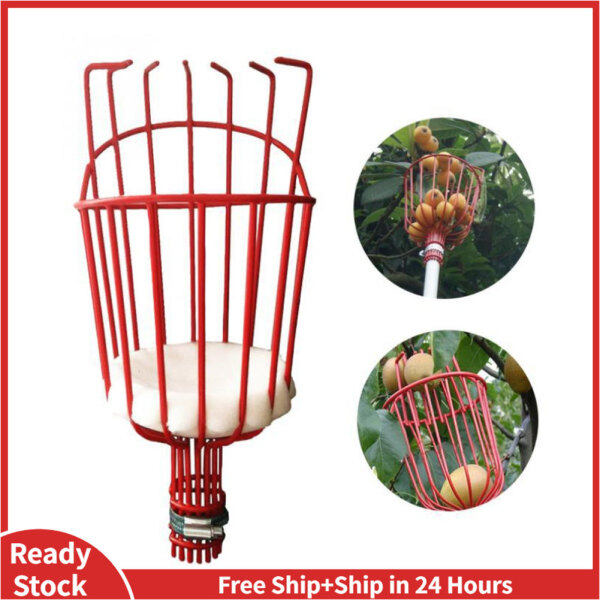 Fruit Picker Tool Picking Harvester Basket Orchard Lightweight Bruise Free Metal Wire For Apple Pear Peach