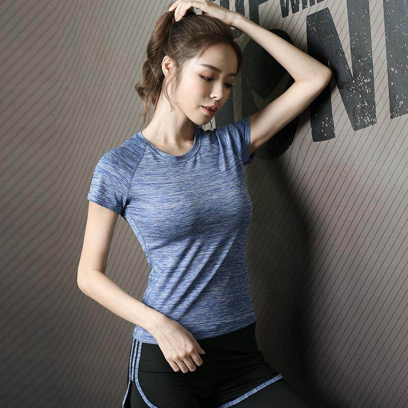2fc581b283067 VESTLINE Korean Style Quick Dry Sport T-Shirt For Women New Free Iron  Clothings Jogging