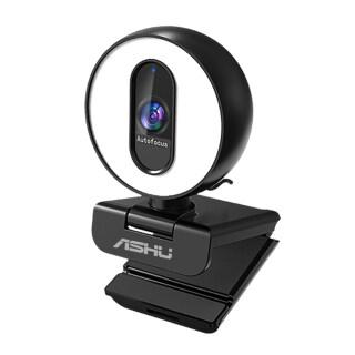 ASHU Webcam Video Độ Phân Giải Cao 2M Pixel 1920X1080P Chức Năng Tự Động Lấy Nét Đèn Tự Sướng Có Thể Điều Chỉnh Độ Sáng Vô Cấp Nhiệt Độ 3 Màu Với 2 Mic Giảm Tiếng Ồn M-agnetic P-rivacy Cam Thiết Kế Xoay USB2.0 C-Camera Máy Tính C-omputer Cổng Harging thumbnail
