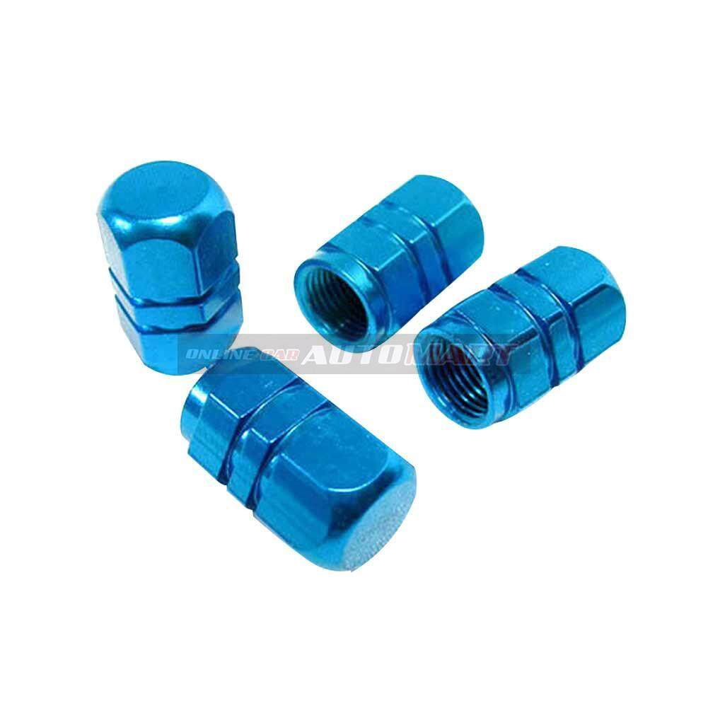 4pcs Aluminium Alloy Tyre Valve Tyre Cap Valve Stem Air Caps Airtight Cove Blue By Online Car Accessories.
