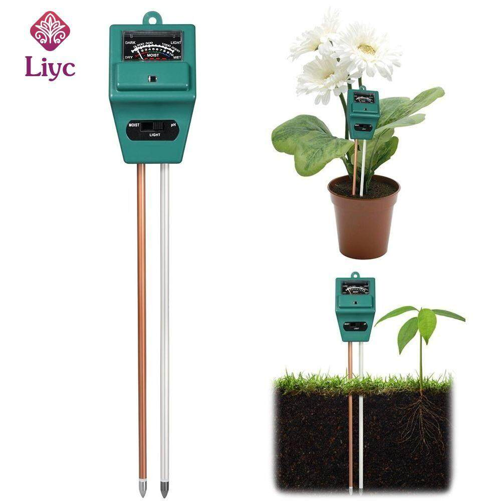 Liyc 3-in-1 Soil pH and Moisture Light Intensity Meter Plant Tester for Plants Growth New high quality
