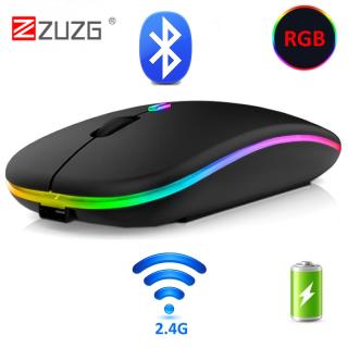 ZUZG Chuột Máy Tính Không Dây Kết Nối Bluetooth RGB Có Thể Sạc Lại Êm Tiện Dụng Có Đèn Nền LED Chuột Quang USB Cho Máy Tính Để Bàn Máy Tính Xách Tay-Intl thumbnail