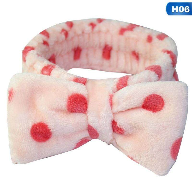 Big Bow Hair Band Wash Face Makeup Mask Headband