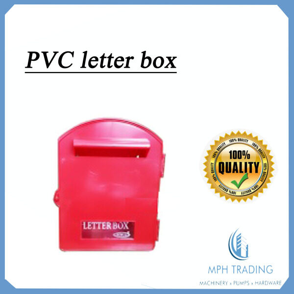 High Quality PVC Red Plastic Letter Box with Magazine Holder Newspaper Folding Space