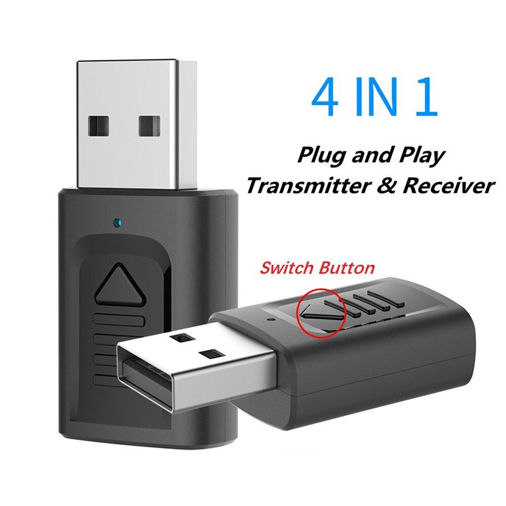 Giá Laztech [Chính Hãng]] 2020 4 Trong 1 Mới USB Phát Bluetooth Bộ Thu Bluetooth 5.0 Máy Tính Truyền Hình Phát Âm Thanh