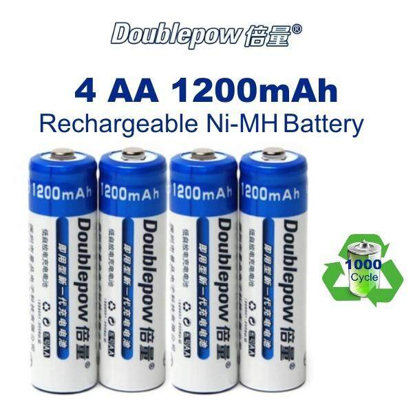 4PACK Doublepow AA 1200mAh 1.2V Ni-MH Rechargeable Battery Malaysia