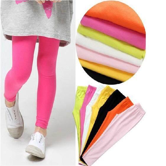 Candy Color Trousers Leggings Pants Girls Full Length Stretch Girls Children