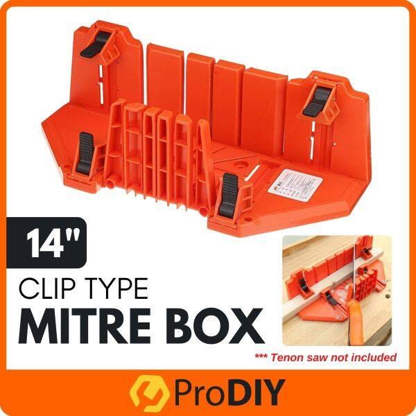 14 Inch Wood Mitre Box Multi-Purpose Woodworking Obliqua 45/90 Degrees Tenon Saw Box Angle Saw Box Oblique Cut Slot