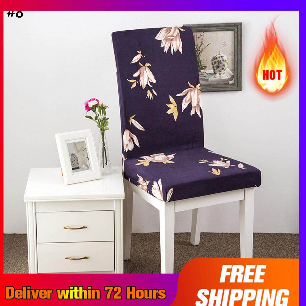 【free Shipping + Super Deal + Limited Offer】kcasa Wx-Pp6 Elegant Flower Landscape Elastic Stretch Chair Seat Cover Dining Room Home Wedding Decor By Teamwin.