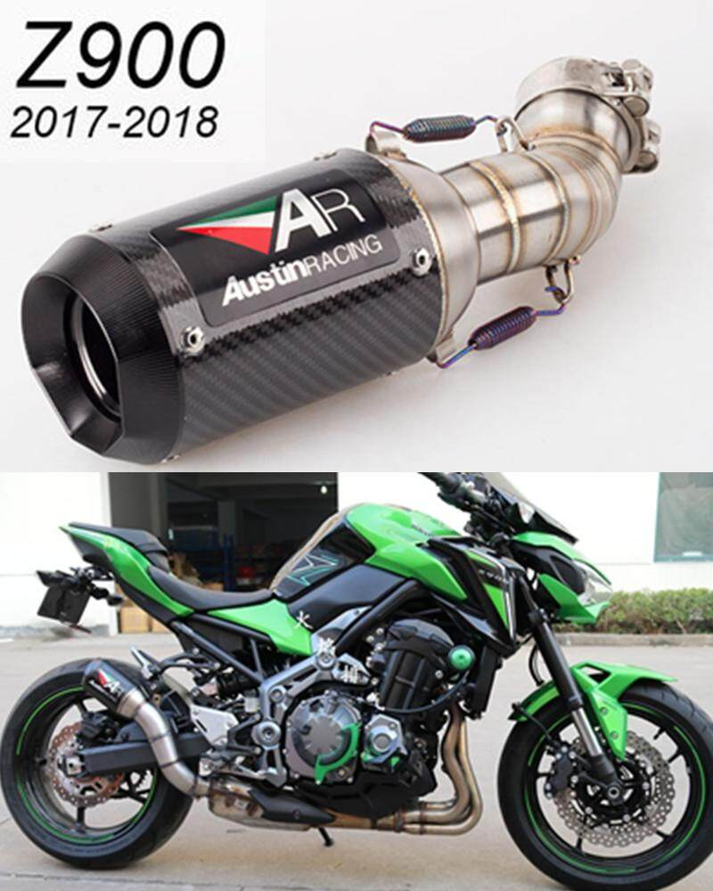 Motorcycle modified muffler Z900 exhaust pipe Z900 middle section AR  exhaust pipe Z900 SC exhaust