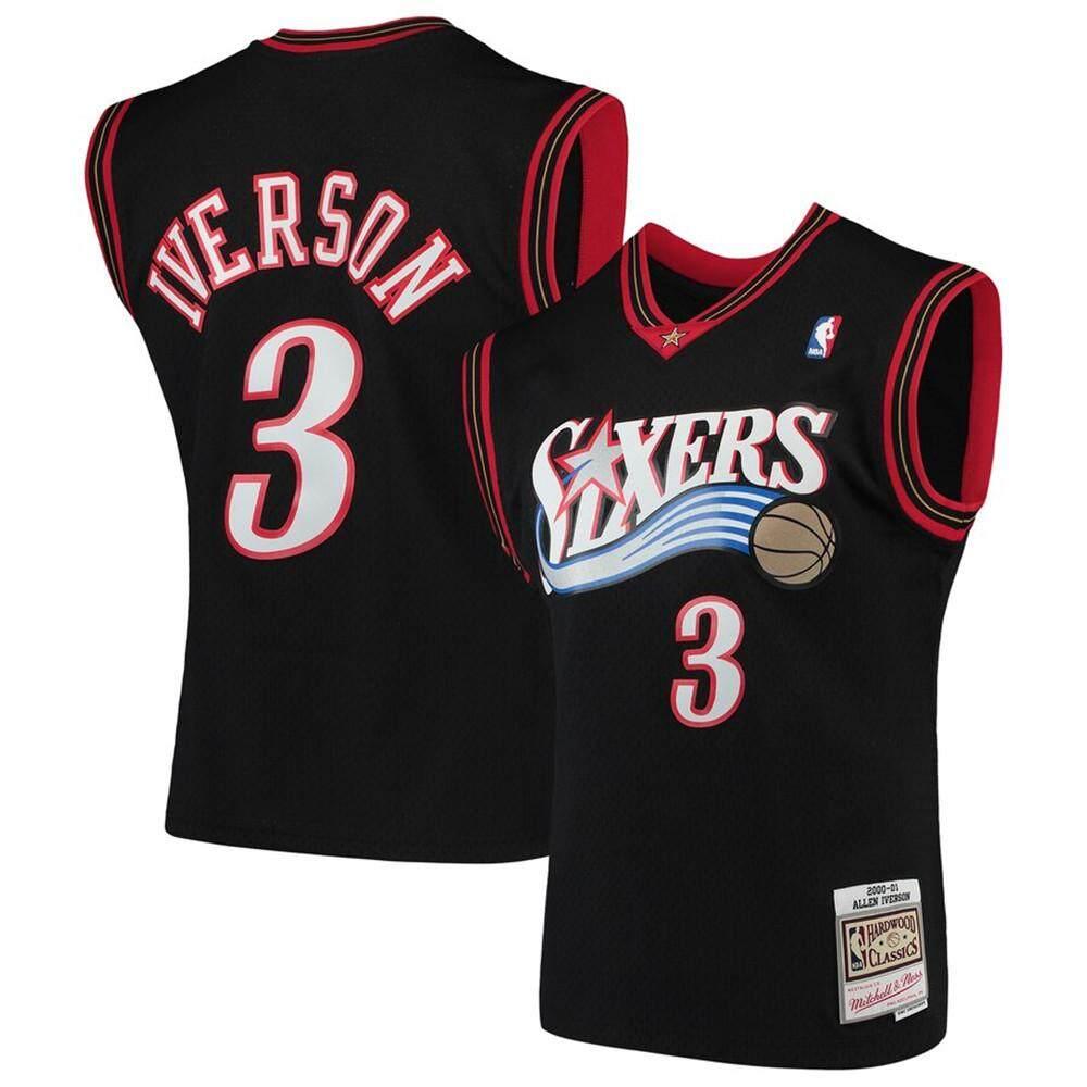 Số 3 NBA Philadelphia 76ers Áo Tập Bóng Rổ Allen Iverson Trò Chơi Kinh Điển Màu Gỗ Cứng Cho Nam Quần Áo Bóng Rổ Chính Thức Mềm Mại Theo Đuổi Thời Trang Màu Đen Int S Giảm Cực Khủng