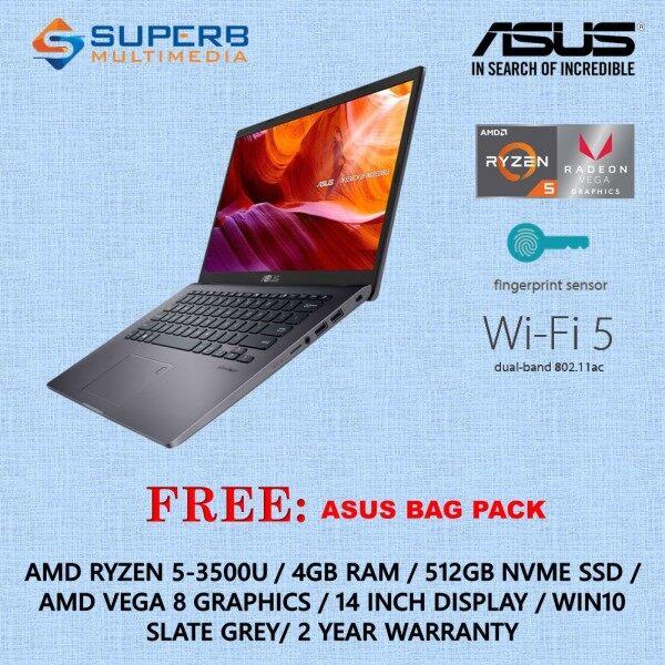 ASUS M409D-ABV067T / ABV068T LAPTOP (AMD RYZEN 5-3500U, 4GB RAM, 512GB SSD, VEGA 8 GRAPHIC, WIN10) Malaysia
