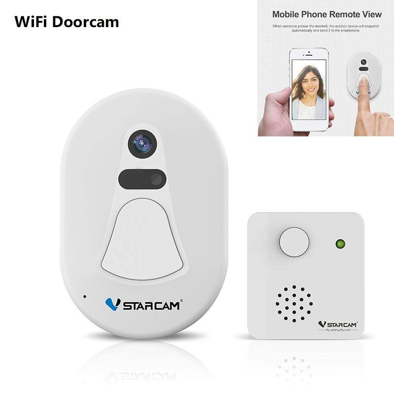 D1 Smart Wireless WiFi Video Doorbell WiFi Security Camera Visual Intercom System Electronic Door Viewer Door Bell Phone For IOS and Android Smartphones (UK Plug)