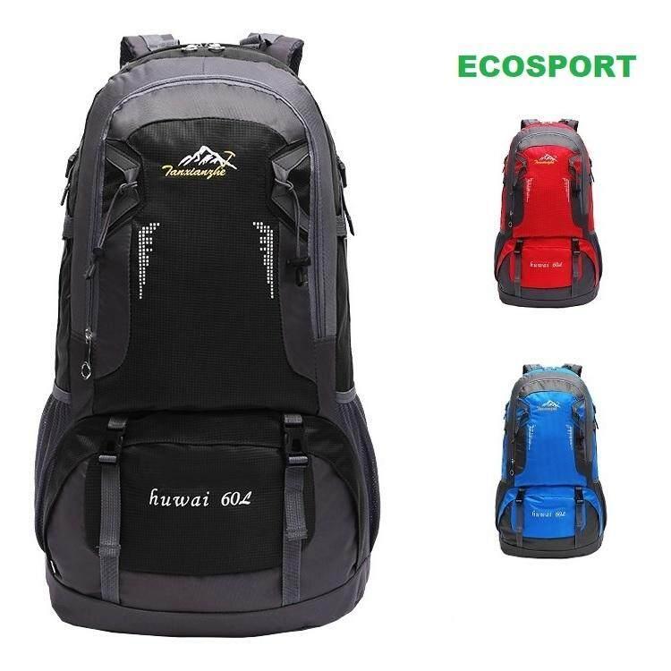 EcoSport 60L Waterproof Hiking Backpack Travel Backpack Bagpack Outdoor  Backpack (Black) e2a06506ad