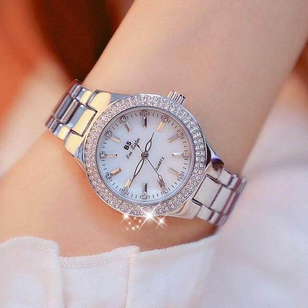 1258 New Style Ladies Fashion Casual Watch Top Brand Korean Version Full Rhinestone Noble And Shine Stainless Steel Watches Diamond Women Gift Wristwatch Malaysia
