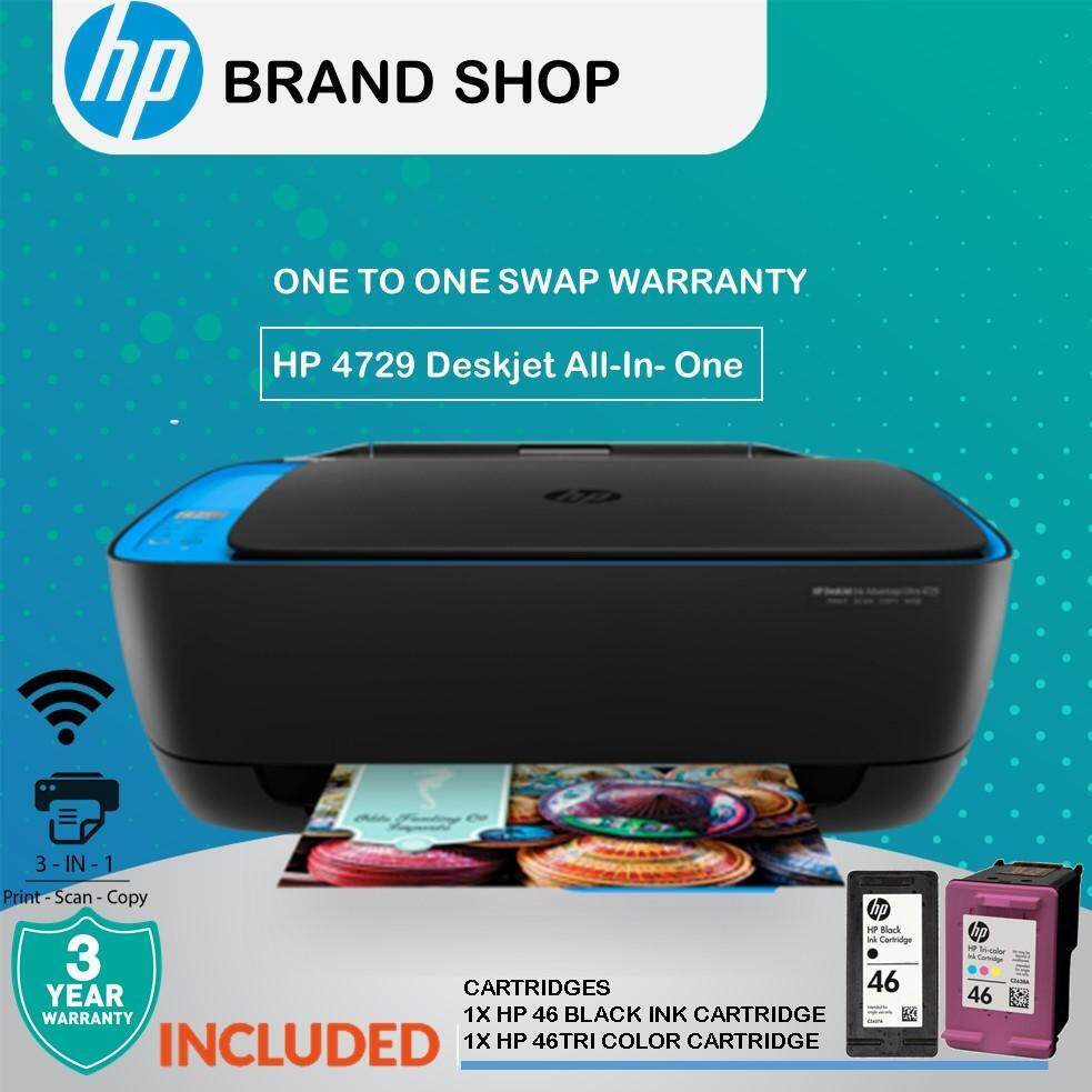 HP DeskJet Ink Advantage Ultra 4729 Home Use All-in-One Printer  (F5S65A)(Print, Scan, Copy,Wireless,Borderless Printing) [FREE REDEMPTION:  Touch & Go