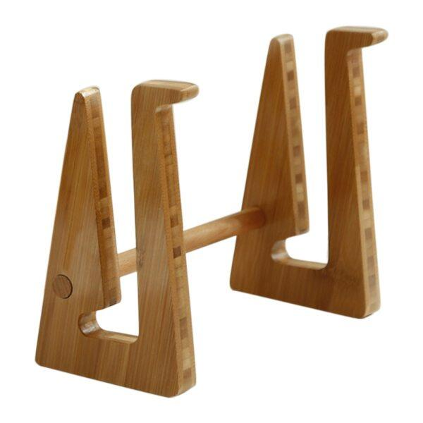 Adjustable Portable Non Slip Carbonized Bamboo Detachable Holder Heat Dissipation Laptop Rack Office Notebook Stand Accessories
