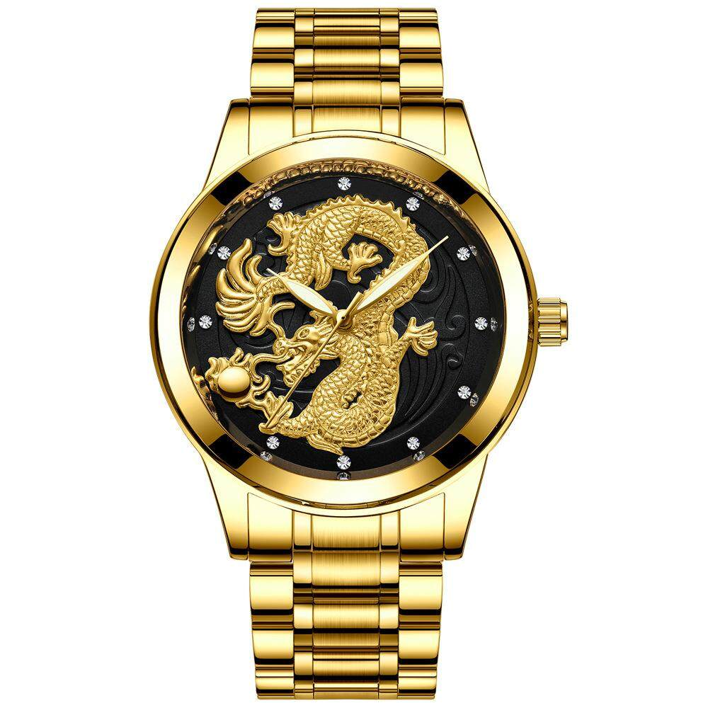FNGEEN DRAGON GOLD WATCH 3D STAINLESS STEEL WRISTWATCH WATERPROOF LUXURY WATCHES Malaysia