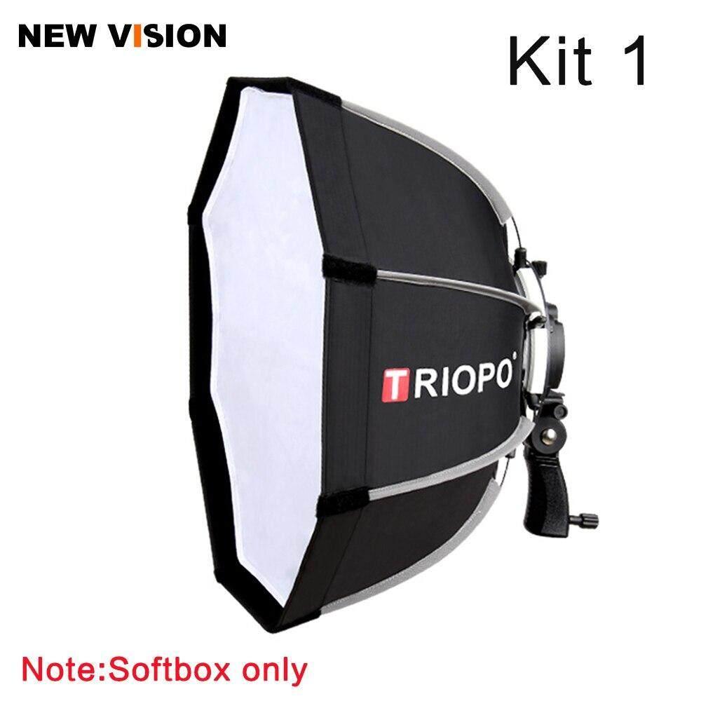 Giá Triopo 65 Cm Có Thể Gập Lại Hình Bát Giác Softbox Giá Đỡ Tay Cầm Hộp Mềm + Lưới Tổ Ong + Chân Đèn 2 M Cho Đèn Flash Godox Speedlite