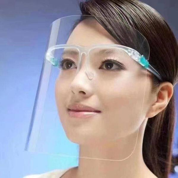 JB Ready Stock(Glasses + Mask)Anti-fog Protect Eyes Face Cover Transparent Face Shield