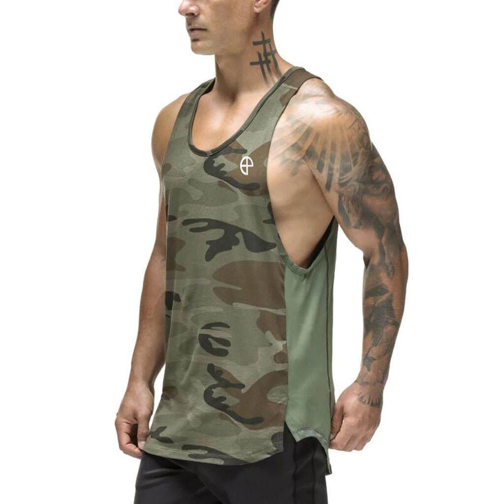 Men/'s Camouflage Tank Top Sleeveless Muscle T-Shirt Camo A-Shirt Hip Hop GYM
