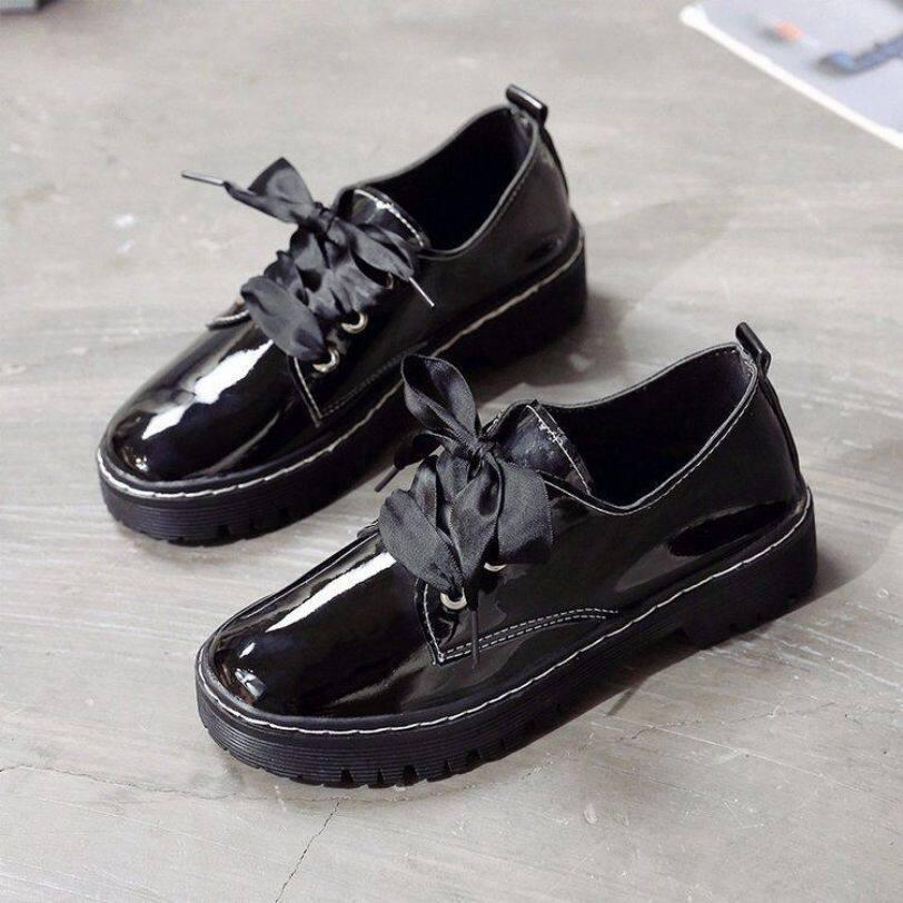 FCFFL22696 Mary Jane Giày Da Nhỏ Nữ 2020 Đầu Xuân Mới Kiểu Nhật Ins Sinh Viên Dễ Thương Hoang Dã Khóa Giày Tròn Cho Bé giá rẻ