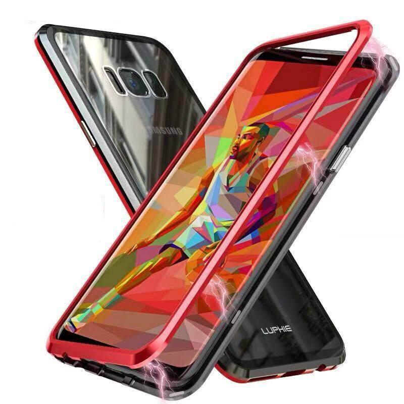 Galaxy S8 Plus Case, galaxy S8 Sarung Ultra Tipis Upgrade Adsorpsi Magnetik Case Logam Bingkai