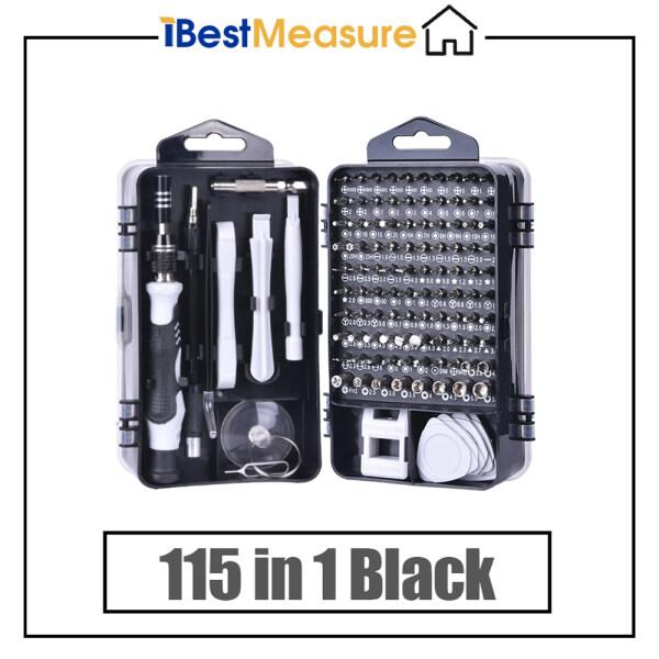 iBestMeasure 115 in 1 Multi-function Magnetic Precision Screwdriver Set for Computer/Watch/Mobile Phone Disassemble Repair Tools(Black)