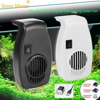 Seven Master Mini Nano Kẹp Treo Trên Máy Làm Lạnh Làm Mát Usb Quạt Điều Khiển Nhiệt Độ Đơn Cho Bể Cá Nhiệt Đới Biển thumbnail