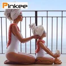 Pinkee Cha Mẹ-Con 3D Hoa 1 mảnh Lưng Trần Bikini cho Mẹ Con Gái