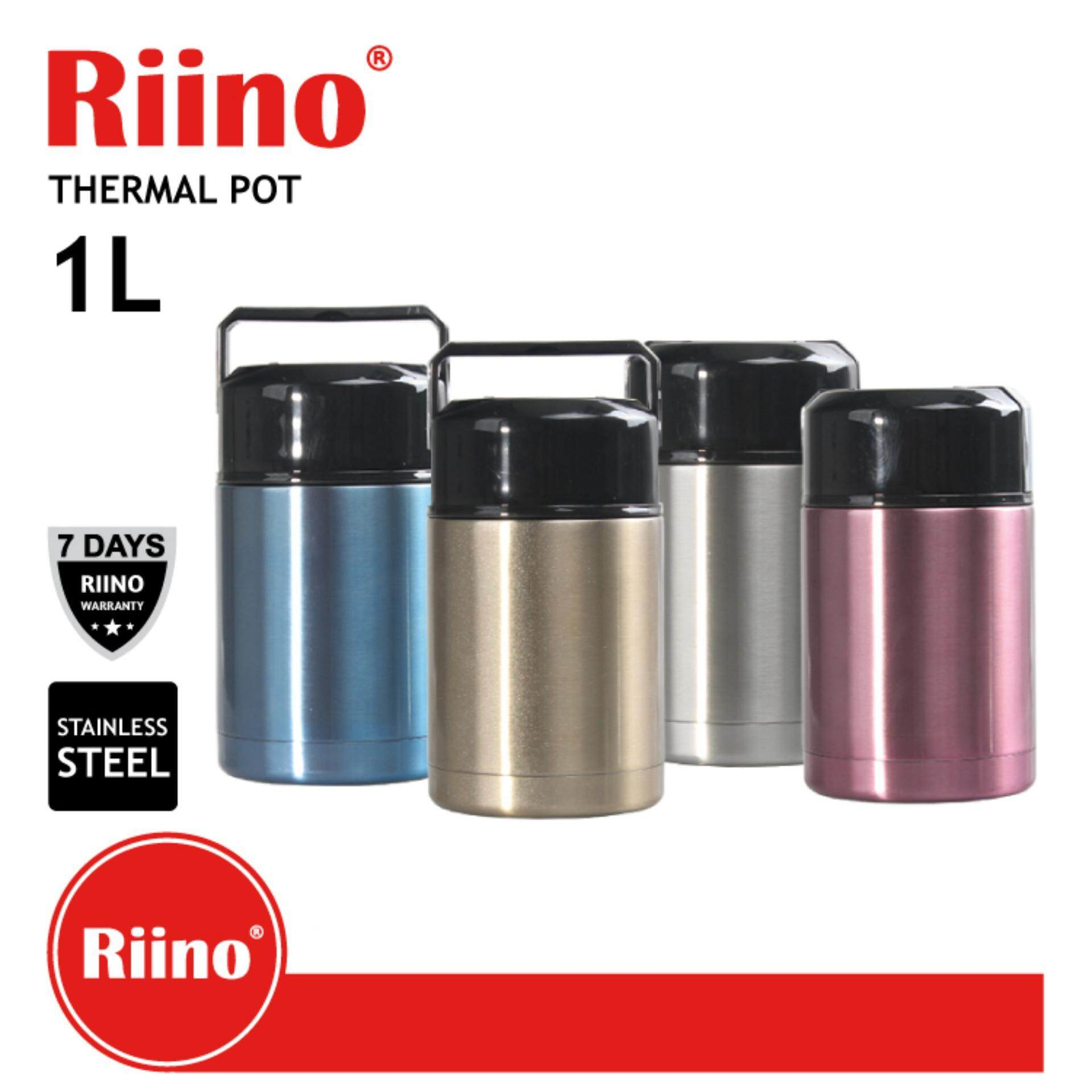 Riino 1000ML Thermal Pot Stainless Steel Portable Cooker Thermo (Gold)