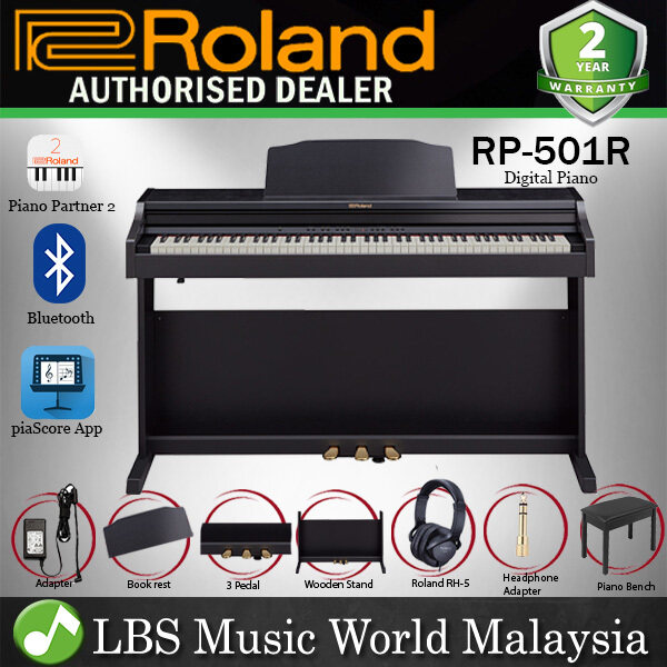 Roland RP-501R 88 Key Digital Piano PHA-4 and Rhythm with RH-5 Headphone Black (RP501R RP501) Malaysia